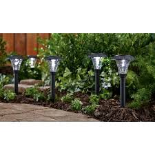 Landscape Lighting Set Mainstays Pebbled Cone 8 Solar Powered Landscape Lighting