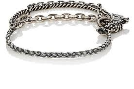 men jewelry bracelet images M cohen two layer flail chain bracelet silver men jewelry jpg