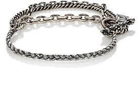 men jewelry bracelet images M cohen two layer flail chain bracelet silver men jewelry jpg