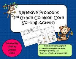 reflexive pronouns 2nd grade common core sorting activity tpt
