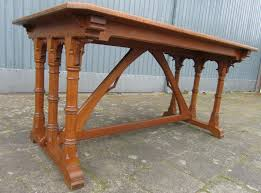 arts and crafts table for arts crafts gothic revival oak desk 1900s for sale at pamono