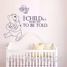 The Pooh Wall Decals Quotes Winnie Vinyl Sticker Nursery Room