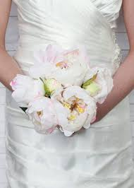 Peonies Bouquet Peony Bouquet In Cream Pink Wedding Flowers Hassle Free