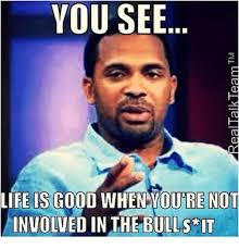 Life Is Good Meme - you see life is good when your not involved in the bulls it life
