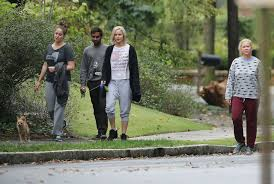 Jennifer Lawrence Home by Lawrence Out Walking Her Dog In Atlanta October 2015