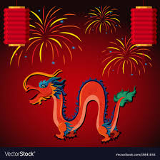 fireworks lantern and lantern with fireworks in vector image