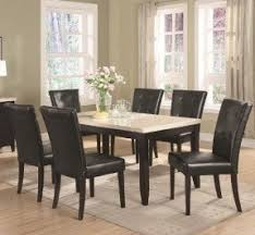 Faux Marble Dining Table Set Foter - Marble dining room furniture