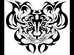 black ink tribal and tiger design want