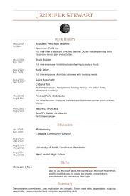 preschool resume template sle resume for assistant in preschools resume sle