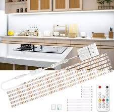 kitchen cabinet lighting images wobsion led cabinet lighting 6 pcs dimmable lights with rf remote 12v cabinet lighting high bright with 180 leds 6000k daylight white