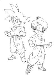 dbz coloring pages 2 coloring pages print