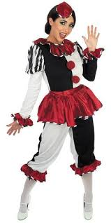 Halloween Circus Costumes Harlequin Clown Ladies Costume Hat Halloween Circus Womens Fancy