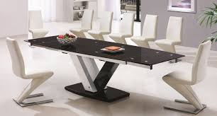 ultra modern dining table a dining room with a bright white flooring will create an