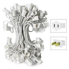 25 ft c7 white wire string lights 25 sockets