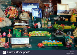 easter egg display easter egg display in shop window stock photo 22772147 alamy
