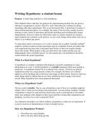 hypothesis presentation cps nasa