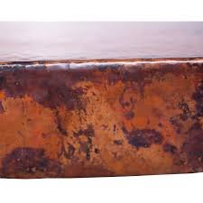 french iron rectangle dining table with hammered copper top
