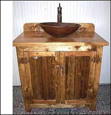 Diy Rustic Bathroom Vanity by Diy Rustic Bathroom Vanities With Single Sink Crock Oil Rubbed