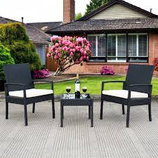 3 pcs outdoor rattan patio furniture set outdoor furniture sets