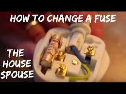 how to change a fuse on a plug the housespouse youtube