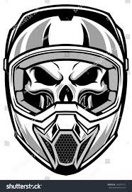 awesome motocross helmets skull wearing motocross helmet stock vector 146916113 shutterstock