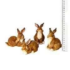 rabbit ornaments set 4 co uk kitchen home
