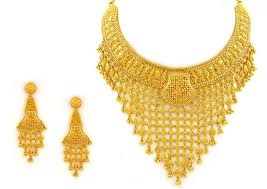gold bridal set gold necklace earring bridal set for henna party yebab