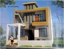Row House Front Elevation - elevation for duplex house in modern architecture u2013 modern house