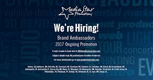 Brand Ambassador Job Description Resume by Media Star Promotions Is Hiring Brand Ambassador In Indi