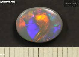 matrix opal cute 0 95 ct solid natural australian black opal 9 6 x 7 3 x 2 2