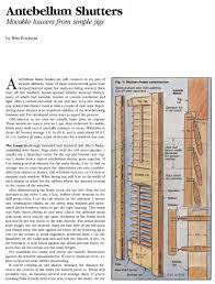 making antebellum shutters u2022 woodarchivist