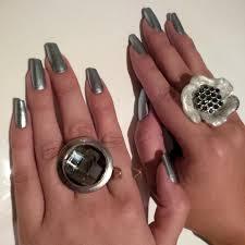 essie no place like chrome metallic silver nail polish u0026 nail