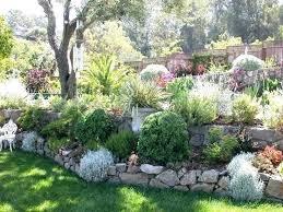 sloped backyard ideas rock garden design ideas to create a natural