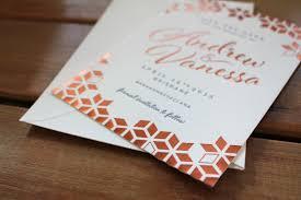 wedding invitations brisbane copper navy foil letterpress