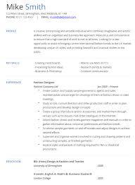 Resume For Job Template by Fashion Designer Cv Example Hashtag Cv