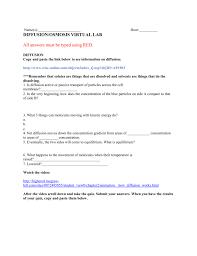 diffusion u0026 osmosis virtual lab