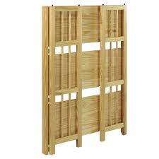 stackable bookcases solid wood yu shan 3 shelf folding stackable bookcase 330 25 in natural wall