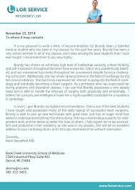 best solutions of letter of recommendation family practice