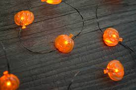 pumpkin lights fairy lights smiling pumpkin string lights led