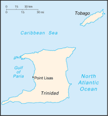 where is and tobago located on the world map point lisas