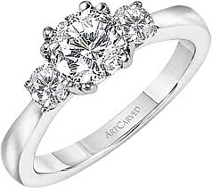 solitaire stone rings images Art carved 3 stone solitaire diamond engagement ring ac 31v122er png