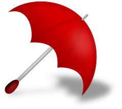 Clip Umbrella Clipart Umbrella Red