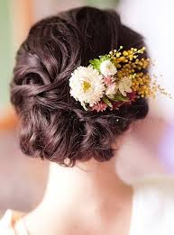 bridal flowers for hair floral hair pieces for brides bridal updo with floral decoration
