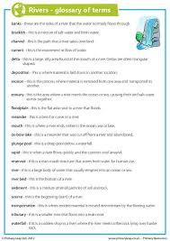 free rivers printable resource worksheets for kids