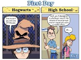 Harry Potter House Meme - harry potter schools vs real high school dorkly post