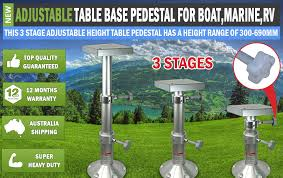 Adjustable Pedestal Table Base New Table Base For Boat Marine Caravan Rv Adjustable Table