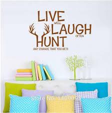 Quotes Wall Decor Vinyl Wall Quotes Bedrooms Living Room Wall Decals Live Laugh Hunt