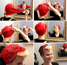 1940s bandana hairstyles diy 40s bomb girls styled scarf tutorial how to styling made by me