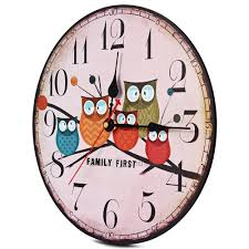 aliexpress com buy 2017 modern design wooden wall clock owl