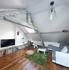 Attic Space Design by Rustic Modern Attic Apartment Renovation Oozes Parisian Panache